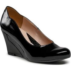Czółenka Libero czarne bez zapięcia eleganckie jesienne