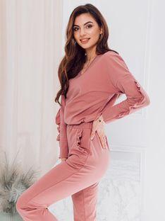 Bluza damska bez kaptura 005TLR - różowa