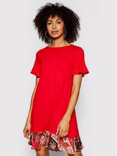 Desigual Sukienka codzienna Kali 21SWVK12 Czerwony Regular Fit