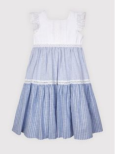 Mayoral Sukienka elegancka 3935 Biały Regular Fit