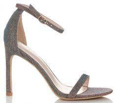 Brokatowe Sandały Damskie na szpilce renomowanej marki Idea Shoes Multikolorowe (kolory)