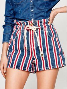 Elisabetta Franchi Szorty jeansowe HJ-07D-01E2-V289 Kolorowy Regular Fit