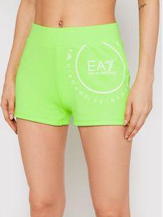 EA7 Emporio Armani Szorty sportowe 3KTS60 TJ9RZ 1822 Zielony Slim Fit