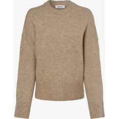 Sweter damski Edited z okrągłym dekoltem beżowy casual