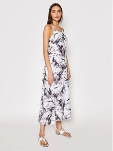 Calvin Klein Jeans Sukienka letnia J20J215690 Szary Regular Fit