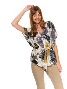 Koszula w egzotyczny nadruk
