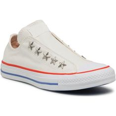 Trampki damskie białe Converse z niską cholewką na lato