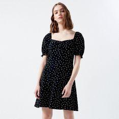 Cropp - Sukienka w groszki - Czarny