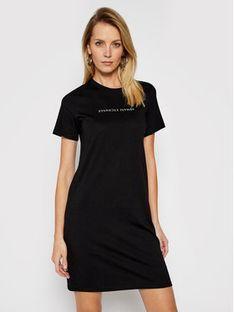 Armani Exchange Sukienka codzienna 3KYA96 YJG3Z 1200 Czarny Regular Fit