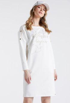 Sukienka z naszytym napisem