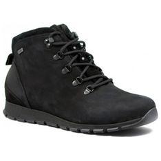 Buty zimowe męskie granatowe Testudo casual sznurowane