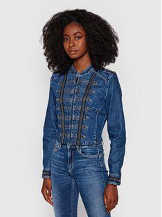 Guess Kurtka jeansowa Vassa W1YN72 D4EV1 Granatowy Slim Fit
