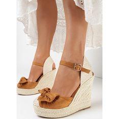 Sandały damskie Born2be skórzane