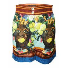 Używane afrykańskie szorty z nadrukiem Wiosna Lato 2013