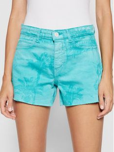 Guess Szorty jeansowe W1GD18 D2G6M Zielony Regular Fit