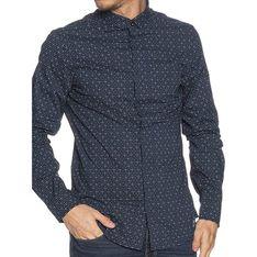 Koszula męska Armani Exchange w abstrakcyjnym wzorze z długim rękawem z kołnierzykiem button down na jesień casual