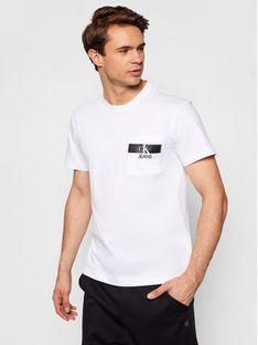 Calvin Klein Jeans T-Shirt J30J317671 Biały Regular Fit