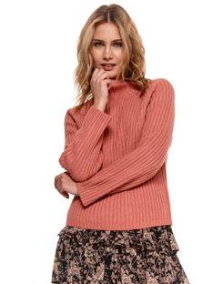 Pudełkowy damski sweter z golfem