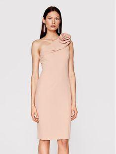 Babylon Sukienka koktajlowa N_MF5012 Różowy Slim Fit