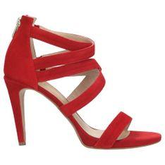 Wojas Szykowne Czerwone Sandały Na Słupku