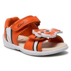 Sandały CLARKS - Zora Nemo T 261583957  Orange Leather