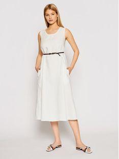 Max Mara Leisure Sukienka codzienna Nettuno 32210516 Biały Regular Fit