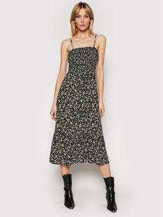 Tommy Jeans Sukienka letnia Floral DW0DW09852 Czarny Regular Fit