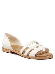 Crocs Sandały Tulum Open Flat W 206109 Biały