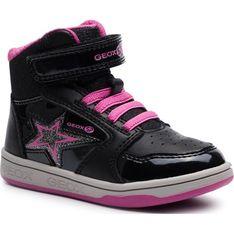 Buty zimowe dziecięce czarne Geox na rzepy