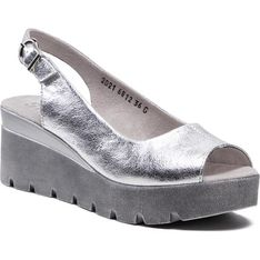 Sandały damskie Simen na platformie z klamrą