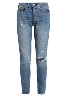 Levi's® - Jeansy Skinny Fit - przecierany denim