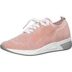 Buty sportowe damskie Marco Tozzi sneakersy w stylu młodzieżowym na płaskiej podeszwie bez wzorów