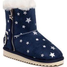 Buty zimowe dziecięce niebieskie Pepe Jeans