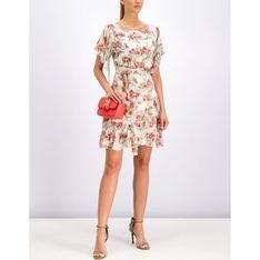 Sukienka Patrizia Pepe midi z okrągłym dekoltem na wiosnę