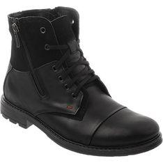 Buty zimowe męskie Komodo sznurowane skórzane