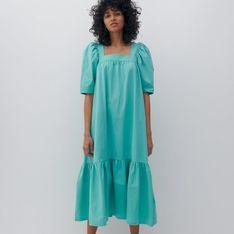 Reserved - Sukienka z technicznej dzianiny - Turkusowy
