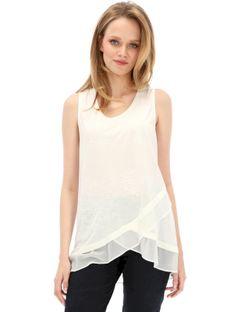 Asymetryczna biała bluzka Desigual SABADO
