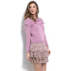 Sweter z falbanami F961