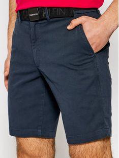 Calvin Klein Szorty materiałowe K10K107164 Granatowy Slim Fit
