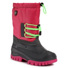 Śniegowce CMP - Kids Ahto Wp 3Q49574J Pink Fluo B351