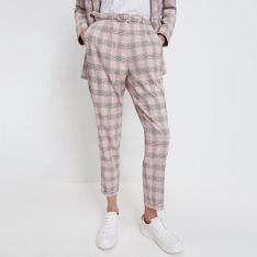 Mohito - Spodnie w kratę - Różowy