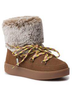 Pepe Jeans Kozaki Brixton Girl Fur PGS50147 Brązowy