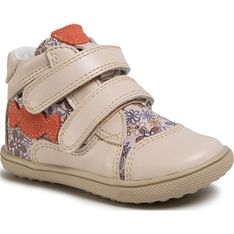 Buty zimowe dziecięce Bartek beżowe trzewiki z tworzywa sztucznego