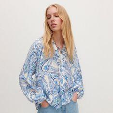 Reserved - Wzorzysta bluzka - Niebieski