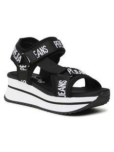 Pepe Jeans Sandały Fuji Pepe PLS90505 Czarny