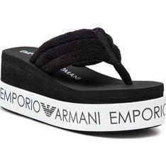Klapki damskie Emporio Armani z tworzywa sztucznego
