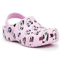 Klapki Crocs Classic Panda Print Clog Jr 206999-6GD czarne różowe