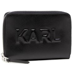 Duży Portfel Damski KARL LAGERFELD - 211W3217  Black 999