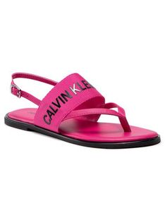 Calvin Klein Jeans Sandały Flat Sandal Toe Pl YW0YW00025 Różowy