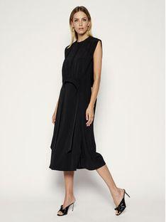 Victoria Victoria Beckham Sukienka codzienna Crepe 2220WDR001286A Czarny Regular Fit